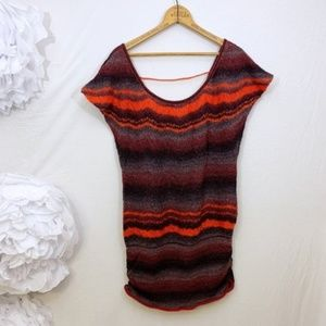 FREE PEOPLE wavy striped mohair sweater Tunic xs